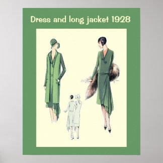 Historische Mode 1928 Plakatdrucke