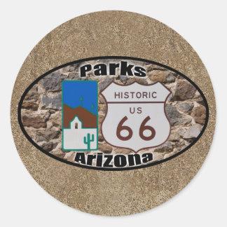 Historische Parks Arizona US-Weg-66 Runder Aufkleber