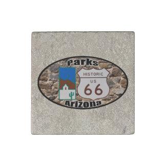 Historische Parks Arizona US-Weg-66 Stein-Magnet