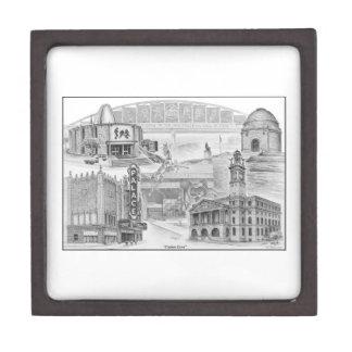 Historische Sehenswürdigkeiten Bezirk-Ohios Schachtel