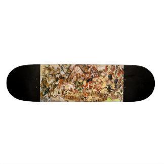 Historische Skateplattform der amerikanischen Revo Skateboard Bretter