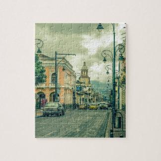Historische städtische Mittelszene an Riobamba Puzzle