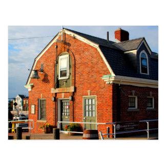 Historische Stadtwharfinger-Gebäude-Postkarte Postkarte