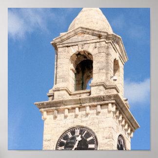 Historischer Clocktower Druck Poster