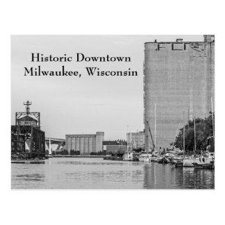 Historischer im Stadtzentrum gelegener Milwaukee Postkarte