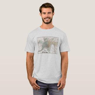 Historischer Karten-T - Shirt Cincinnatis
