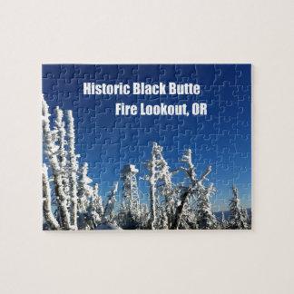 Historischer schwarzer Butte-Feuer-Ausblick ODER Puzzle