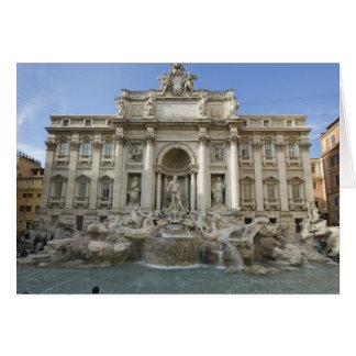 Historischer Trevi-Brunnen in Rom, Italien Karte
