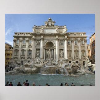 Historischer Trevi-Brunnen in Rom, Italien Poster