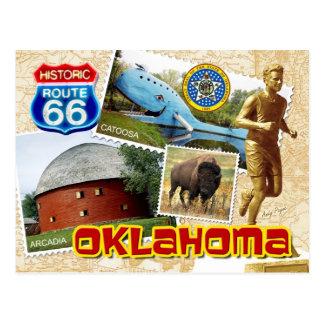 Historischer Weg 66, Oklahoma Postkarte