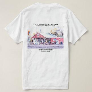 Historisches Arizona-Gemischtwarenladen-Aquarell T-Shirt