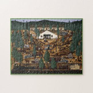 Historisches aufzeichnenlager-Puzzlespiel Puzzle