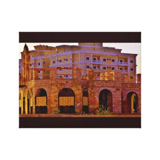Historisches Hafen-Gebäude Leinwanddruck