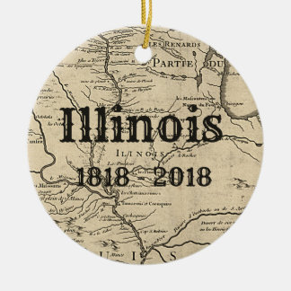 Historisches Illinois zweihundertjährig Keramik Ornament
