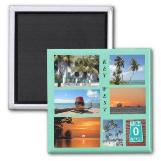 Historisches Key West, Florida-Magnet Quadratischer Magnet