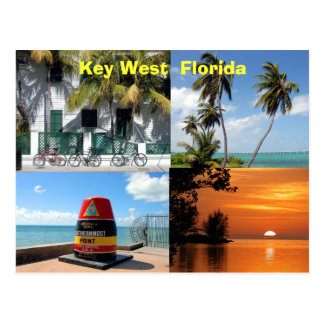 historisches Key West Florida USA Postkarte