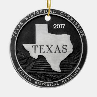 Historisches Medaillon Texas Keramik Ornament