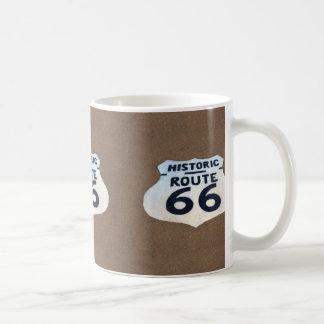 Historisches Plasterungs-Zeichen des Weg-66 Kaffeetasse