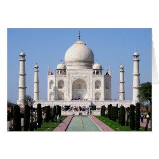 Historisches Taj Mahal, Agra, Indien Karte