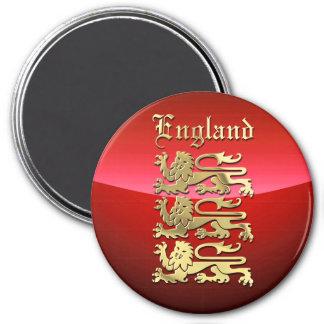 Historisches Wappen von England Runder Magnet 7,6 Cm