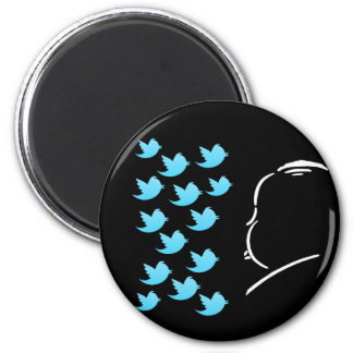 Hitch and Tweets Runder Magnet 5,7 Cm