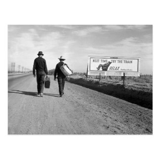 Hitchhikers, 1937 postkarte