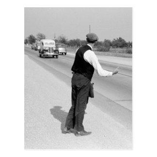 Hitching eine Fahrt, 1939 Postkarte