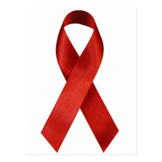 HIV/AIDS Bewusstseins-Rot-Band Postkarte