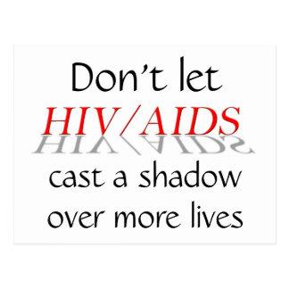 HIV_AIDS, lassen nicht, einen Schatten über mehr Postkarte