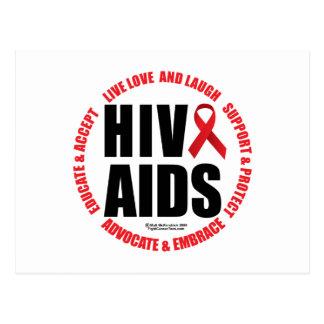 HIV/AIDS leben Liebe-Lachen Postkarte