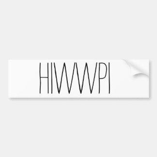 HIWWPI Autoaufkleber {einfach}