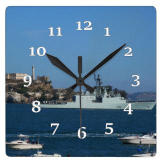 HMCS ALGONQUIN QUADRATISCHE WANDUHR