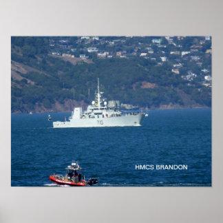 HMCS Brandon Plakate