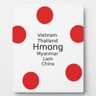 Hmong Sprachentwurf (schließt Länder) mit ein Fotoplatte