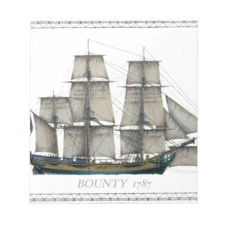 HMS-Prämie 1787 Notizblock