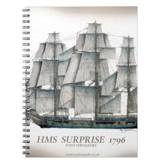 HMS-Überraschung 1796 gealtert Spiral Notizblock