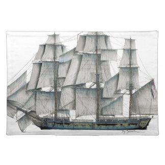 HMS-Überraschung 1796 gealtert Stofftischset
