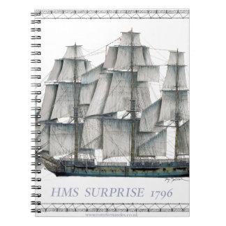 HMS-Überraschung 1796 Spiral Notizblock