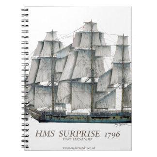 HMS-Überraschungskunst 1796 Spiral Notizblock