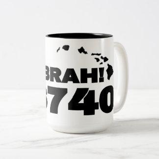 Ho Brah!. , Kailua Kona Kaffee-Tasse Zweifarbige Tasse