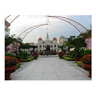 Ho Chi Minh Stadt Hall, Vietnam Postkarte