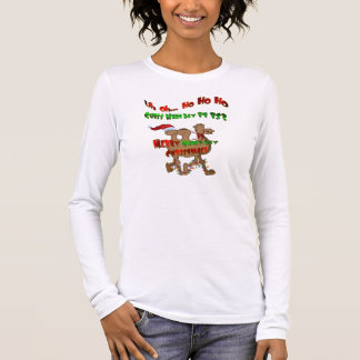 Ho Ho Ho Buckel-Tagesweihnachten Langarm T-Shirt