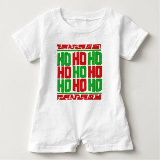 HO HO HO frohe Weihnachten Baby Strampler