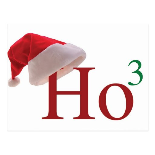 Ho Ho Ho frohe Weihnachten Postkarte