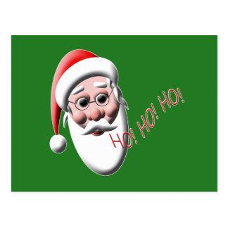 Ho! Ho! Ho! Grüne Weihnachtspostkarten Sankt Postkarte