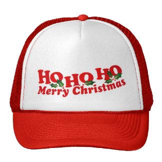 Ho Ho Ho Hut der frohen Weihnachten Retrokappe