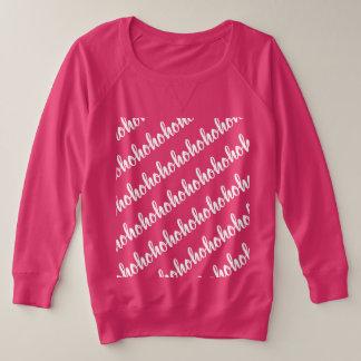 ho ho ho in einem ununterbrochenen Muster für Große Größe Sweatshirt