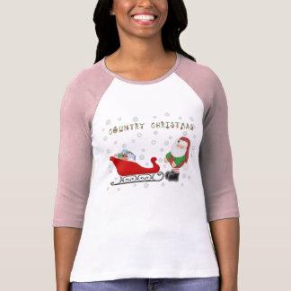 Ho Ho Ho Land-Weihnachtssankt-Pferdeschlitten L T-Shirt