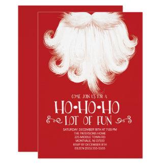 HO HO HO Lose des Spaß-Sankt-WeihnachtsParty Karte