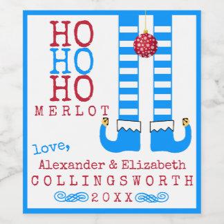 Ho Ho Ho Merlot-lustiger Weinetikett